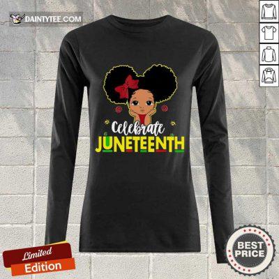 Black Girl Kids Juneteenth Long-sleeved