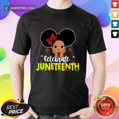 Black Girl Kids Juneteenth Shirt