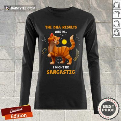 Cat The DNA Results Be Sarcastic Long-sleeved