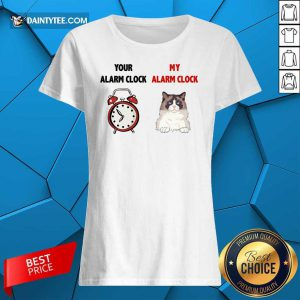 Cat Your Alarm Clock Buttercup Ladies Tee