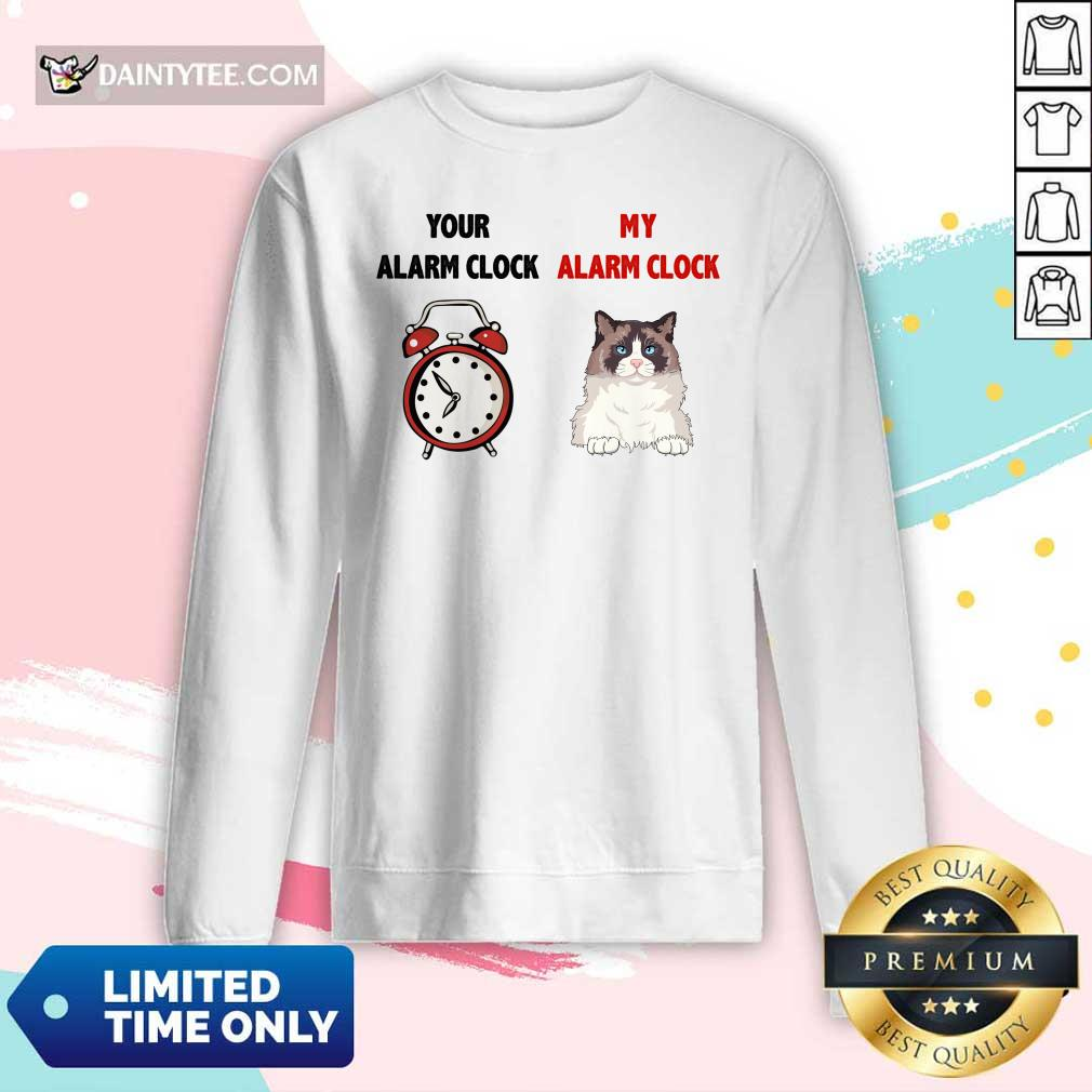 Cat Your Alarm Clock Buttercup Long-sleeved