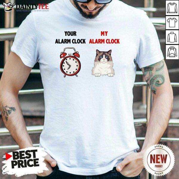 Cat Your Alarm Clock Buttercup Shirt