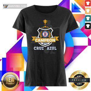 Cruz Azul Campeon 2021 Football Mexico Ladies Tee