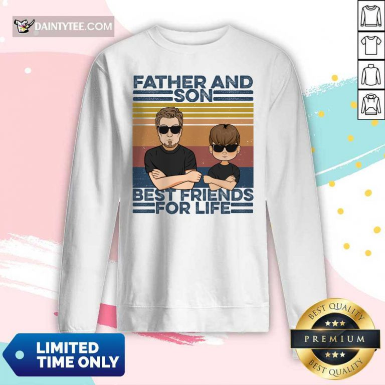Father And Son Best Friends For Life Long-sleeved