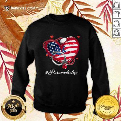 Heart American Flag Paramedic Sweater