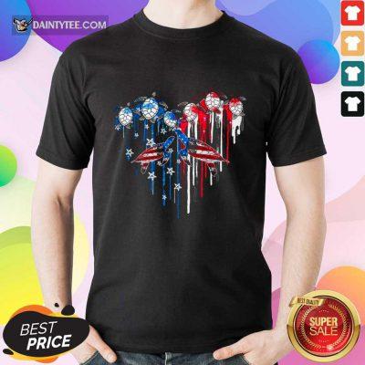 Heart Turtles American Flag Shirt