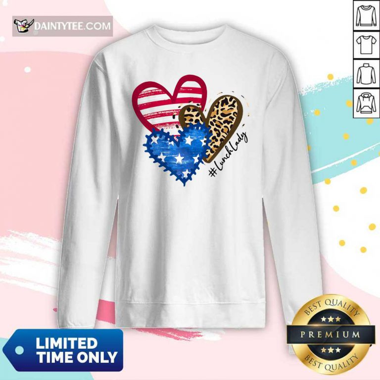 Heart USA Leopard Lunch Lady Long-sleeved