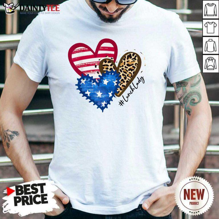 Heart USA Leopard Lunch Lady Shirt