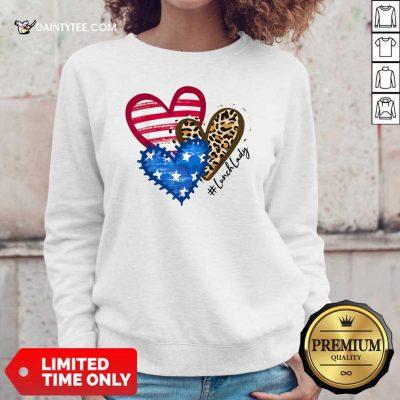 Heart USA Leopard Lunch Lady Sweater