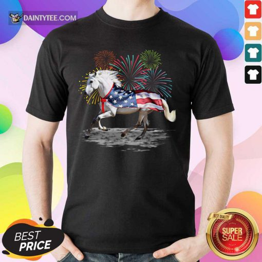 Horse Lover American Flag Shirt