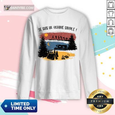 Je Suis Un Homme Simple Camping Long-sleeved