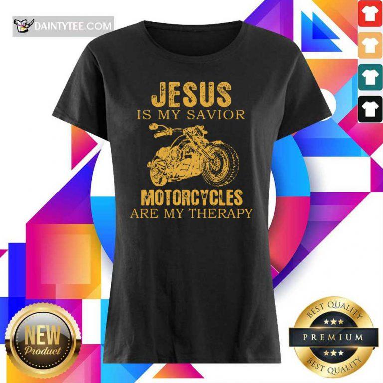 Jesus Is My Savior Motorcycles Ladies Tee