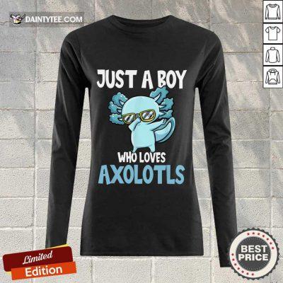 Just A Boy Axolotls Kawaii Long-sleeved