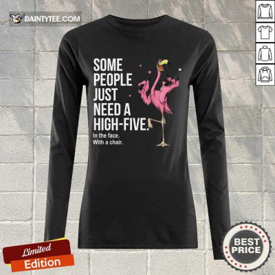 Just Need A High Five Flamingo Long-sleeved