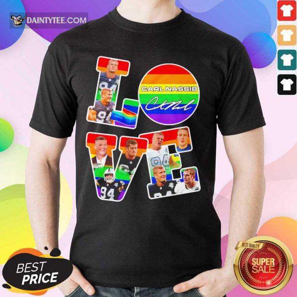 LGBT Love Carl Nassib Signature Shirt