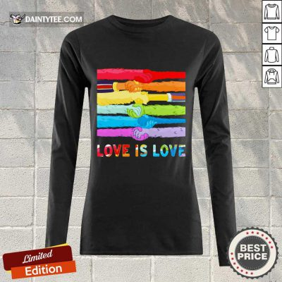 LGBT Love Is Love Hold Hand Long-sleeved