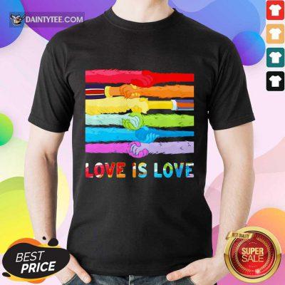 LGBT Love Is Love Hold Hand Shirt