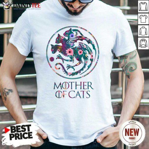 Mother Of Cats Mix Flower Shirt
