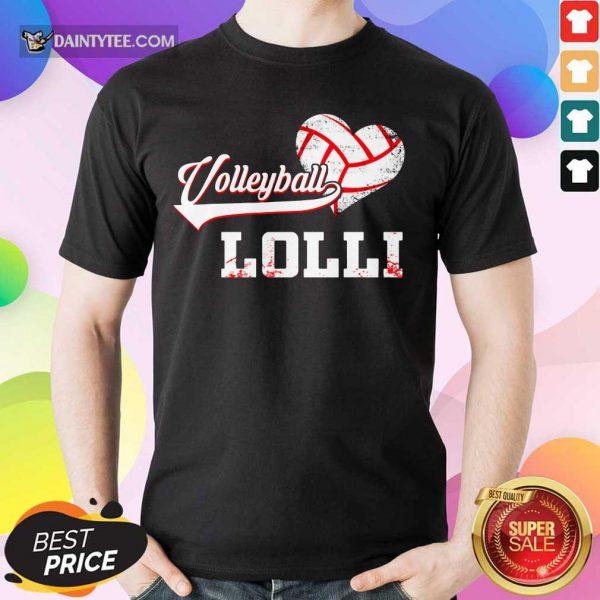 Nice Volleyball Lolli Heart Shirt