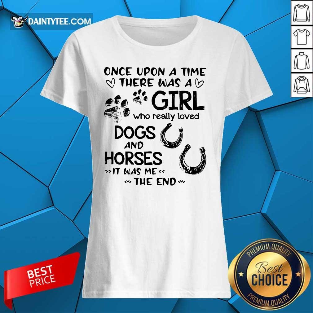 Once Upon A Time Girl Dogs And Horse Ladies Tee