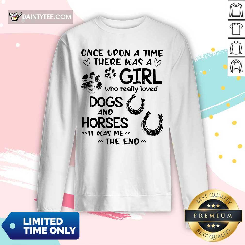 Once Upon A Time Girl Dogs And Horse Long-sleeved