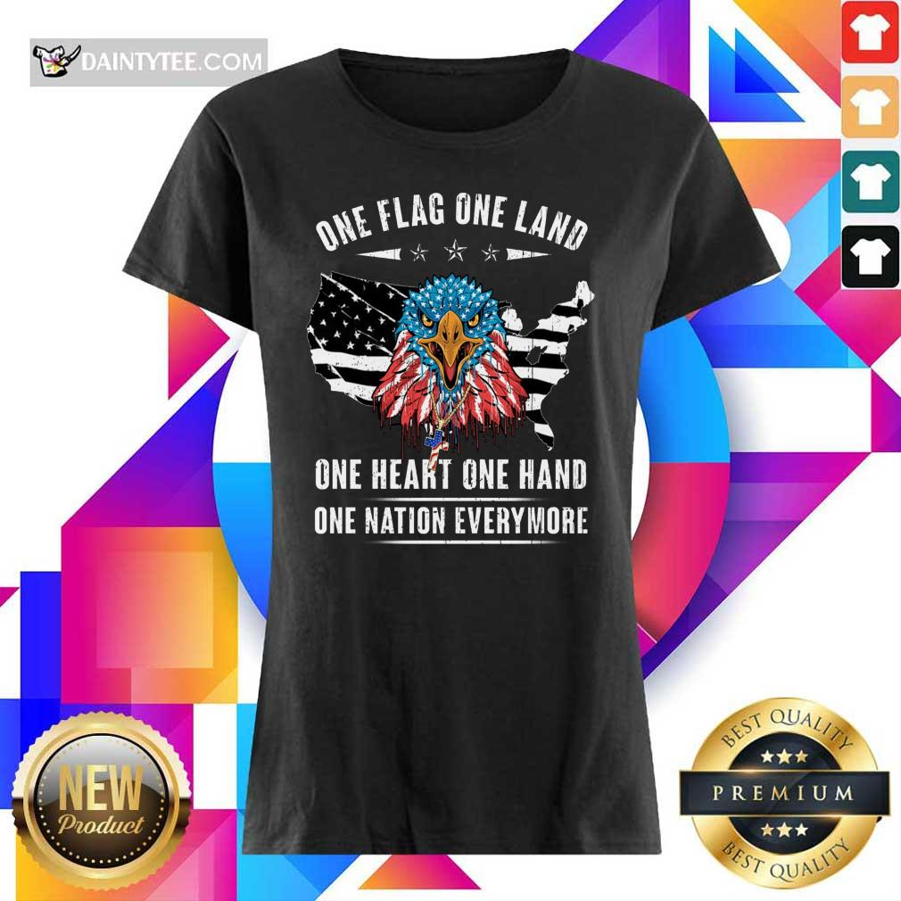 One Flag One Land One Heart One Hand Ladies Tee