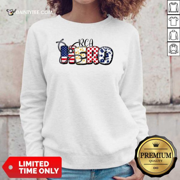 PCA Hero Nurse Doctor Medical American Flag Sweater