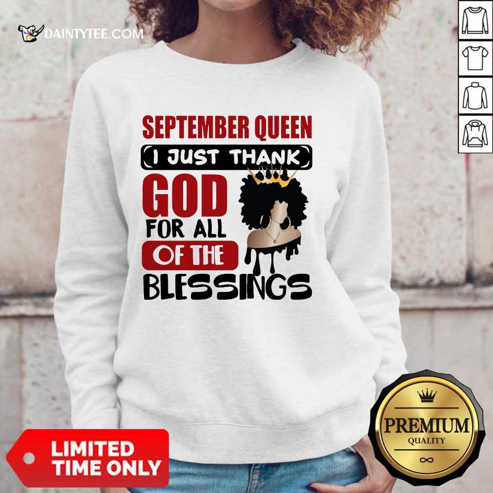 September Queen I Just Thank God Sweater