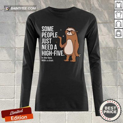 Sloth Just Need A High Five Long-sleeved