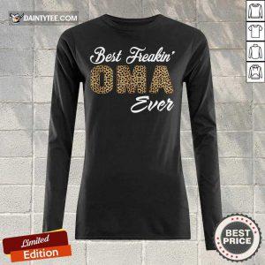 Top Best Freakin Oma Ever Leopard Skin Long-sleeved