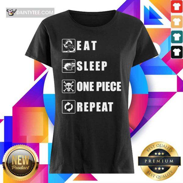 Top Eat Sleep One Piece Repeat Ladies Tee