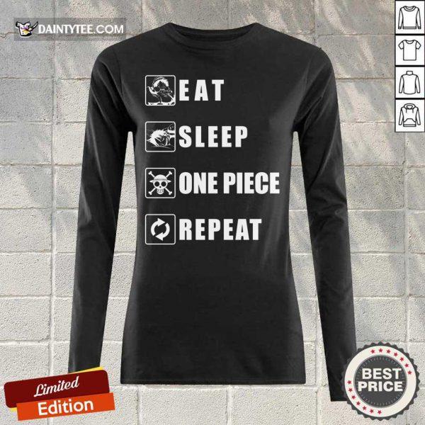 Top Eat Sleep One Piece Repeat Long-sleeved