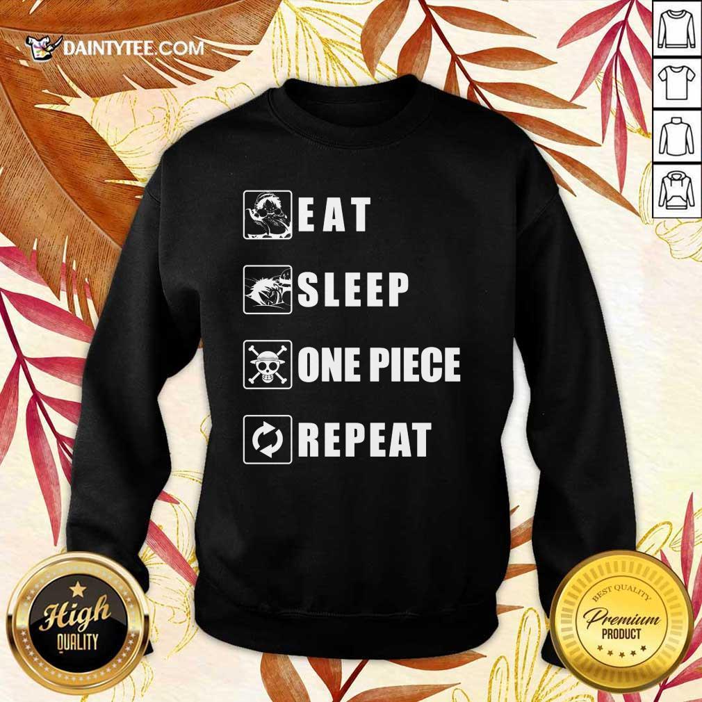 Top Eat Sleep One Piece Repeat Sweater