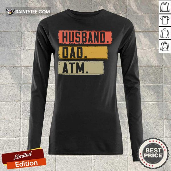 Top Husband Dad Atm Vintage Long-sleeved