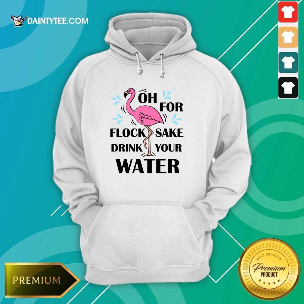 Flamingo Oh For Flock Sake Drink Your Water Hoodie