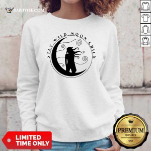 Girl Stay Wild Moon Child Sticker Sweater