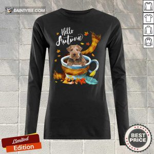 Hello Autumn Wire Fox Terrier Long-sleeved