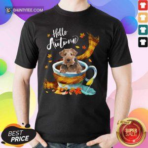 Hello Autumn Wire Fox Terrier Shirt