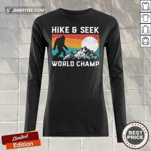 Hike And Seek World Champ Bigfoot Vintage Long-sleeved