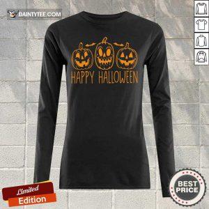 Hot Happy Halloween Pumpkin Long-sleeved