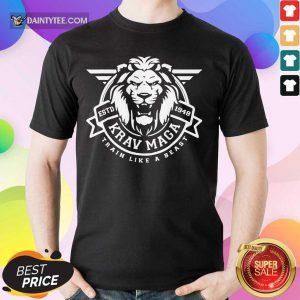 Lion Krav Maga Train Like A Beast Shirt
