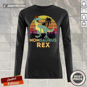 Mom Saurus Rex Happy Parents Day Vintage Long-sleeved