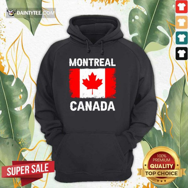 Montreal Canada Flag Hoodie