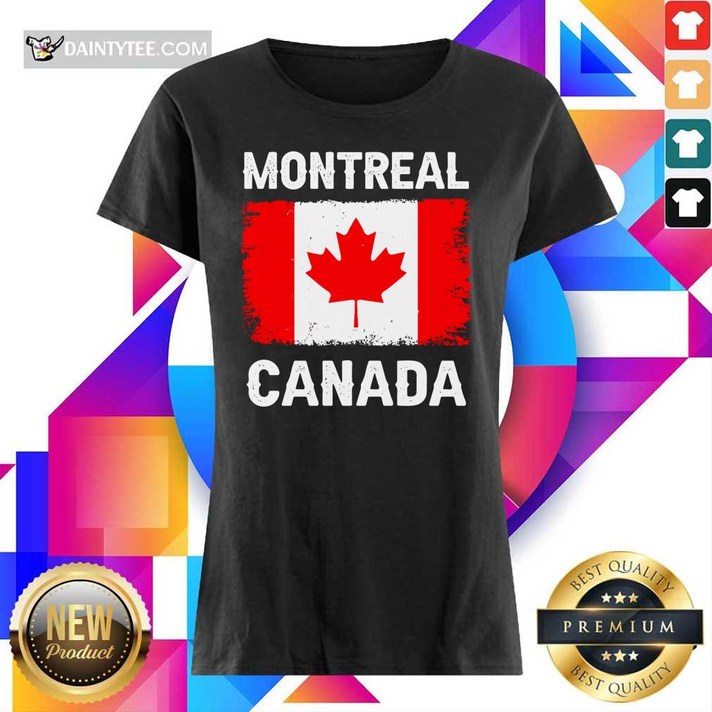 Montreal Canada Flag Ladies Tee