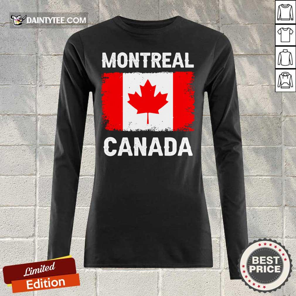 Montreal Canada Flag Long-sleeved