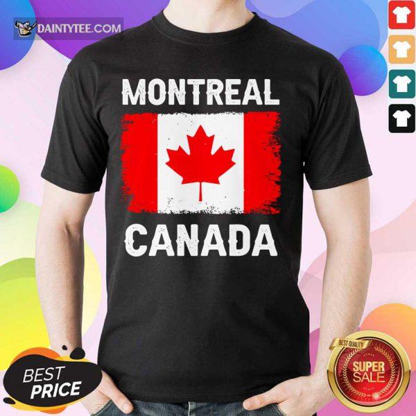 Montreal Canada Flag Shirt
