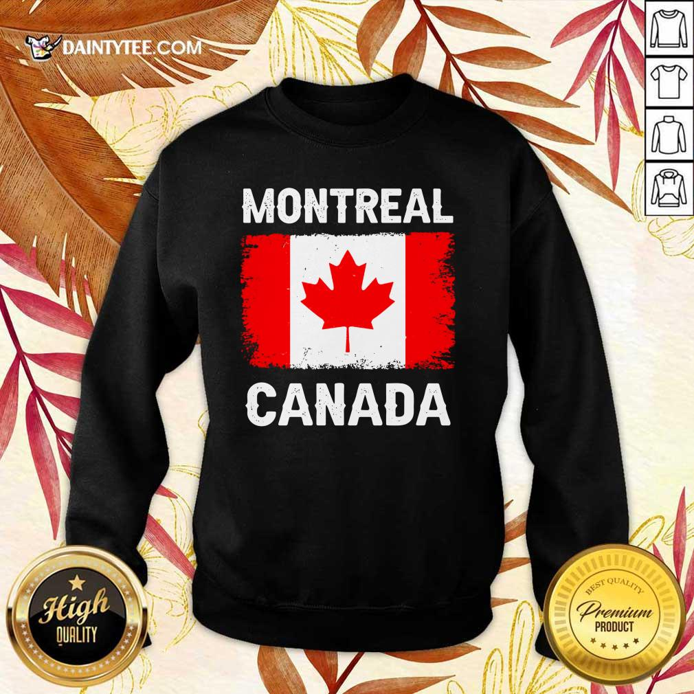 Montreal Canada Flag Sweater