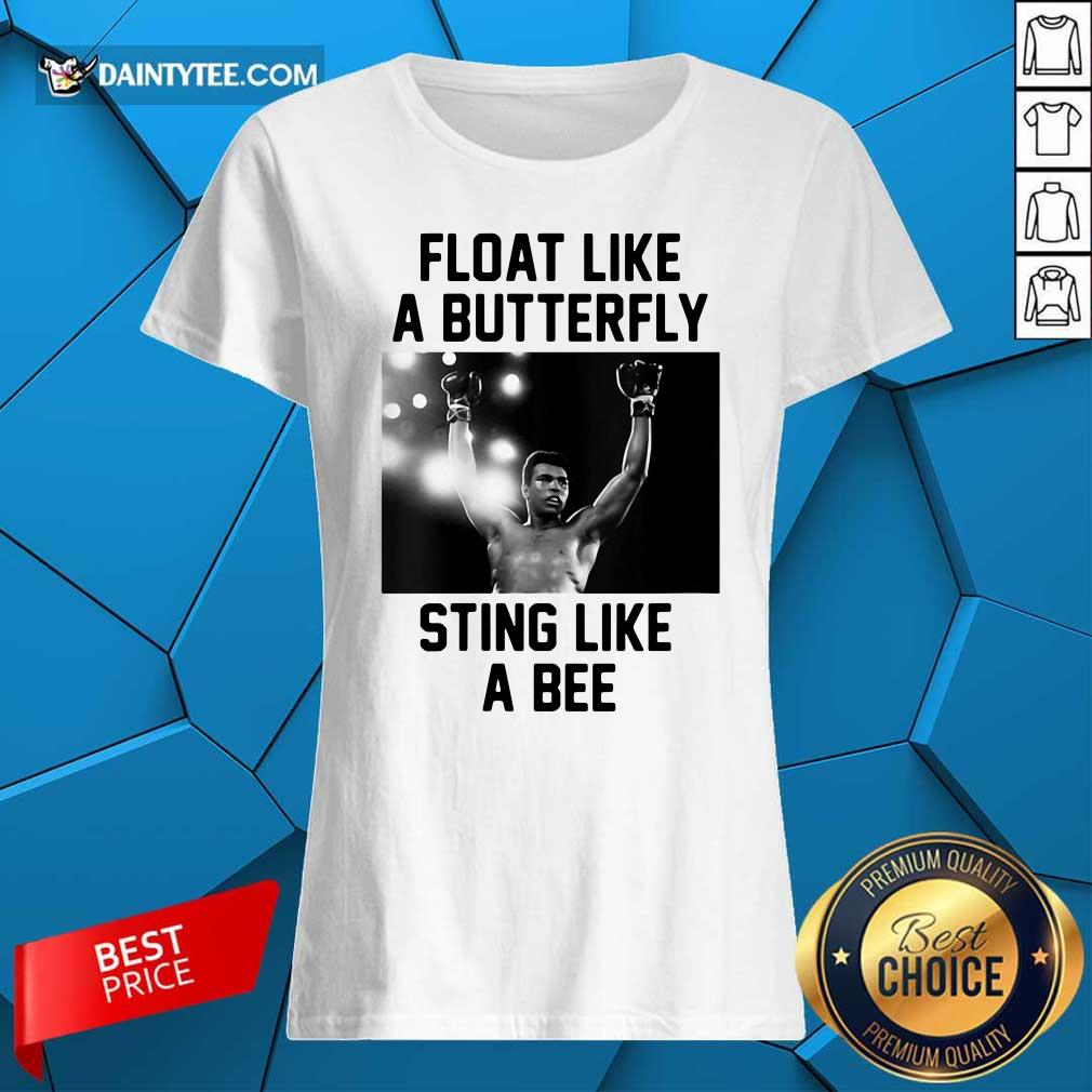 Muhammad Ali Float Like A Butterfly Sting Like A Bee Ladies Tee