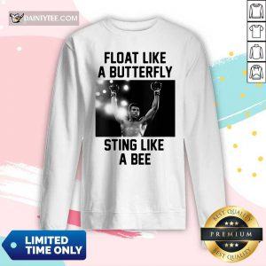 Muhammad Ali Float Like A Butterfly Sting Like A Bee Long-sleeved