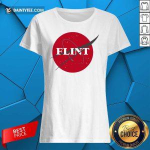 Nasa Flint Made To Match Jordan 13 Red Flint Ladies Tee